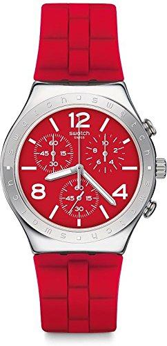 Swatch Orologio Cronografo Quarzo Uomo con Cinturino in Silicone YCS117