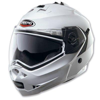 Casco Helmet Helm CABERG DUKE DOPPIA OMOLOGAZIONE apribile bianco white metal taglia L