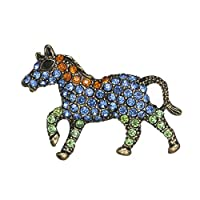 Aodump 1Pcs Pony Brooch Crystal Jewelry for Woman Garment Brooches Accessories