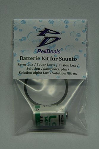PeilDeals Batterie-Kit für SUUNTO Favor Lux (S), Solution (Alpha (Nitrox)), Fusion Lux S