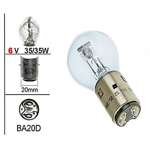 6V Bilux Lampe - 35/35W - BA20d - für Oldtimer Scheinwerfer