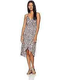 Angie Women's Spaghetti Strap Floral Print Wrap Dress