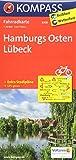 Hamburgs Osten, Lübeck: Fahrradkarte - GPS-genau - 1:70000: Fietskaart 1:70 000 (KOMPASS-Fahrradkarten Deutschland, Band 3008) -
