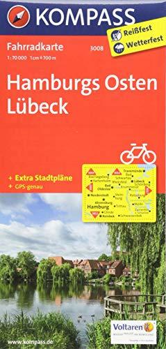 KOMPASS Fahrradkarte Hamburgs Osten, Lübeck: Fahrradkarte. GPS-genau. 1:70000: Fietskaart 1:70 000 (KOMPASS-Fahrradkarten Deutschland, Band 3008)