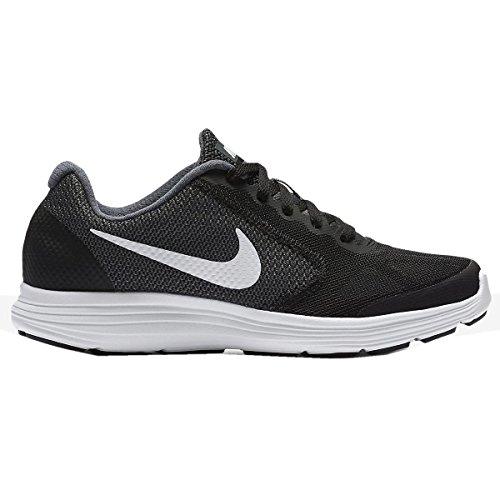 Nike Jungen Revolution 3 (Gs) Low-Top Dk.Grau-Schwarz-Grau
