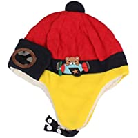 Sombrero Niño Invierno Unisexo Lei Feng Cap Ganchillo Piloto Sombreros de Orejeras Calentar para Niño Beanie Hat Sombrero Gorra de Esqui Holatee