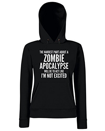 T-Shirtshock - Sweats a capuche Femme TZOM0054 zombie apocalypse (3) Noir