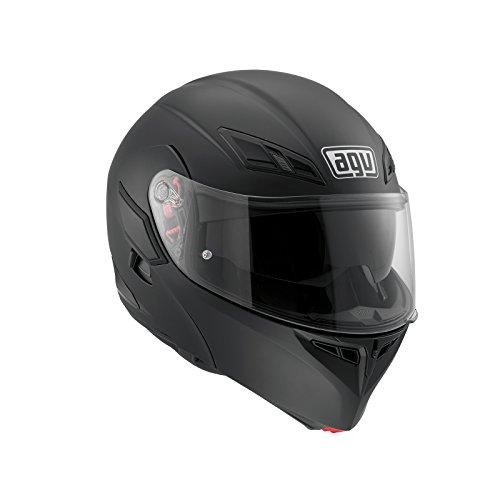 AGV Motorradhelm Compact St E2205 Solid PLK, Matt Schwarz, Größe L
