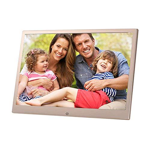 Jackeylove Digitaler Video-Bilderrahmen 13,2 Zoll mit Fernbedienung 1280 * 800 HD IPS-LCD-Bildschirm WiFi-Netzwerk-Werbemaschine mit Auto-Rotate/Kalender/Clock-Funktion, MP3 / Foto/Video-Player
