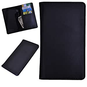 DCR Pu Leather case cover for Lava iris 455 (black)
