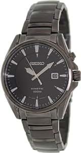 Seiko - SKA567P1 - Kinetic - Montre Homme - Automatique Analogique - Cadran Noir - Bracelet Acier plaqué Noir