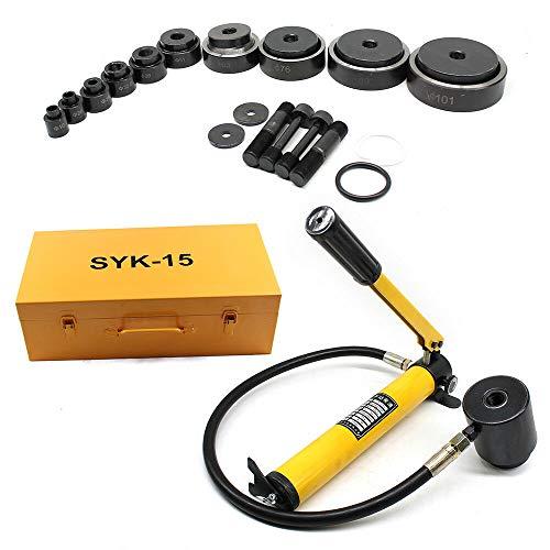 15T Perforadora hidráulica, Juego de herramientas de perforación Hydraulique para orificio ciego 16-101mm 15T + 10x matrices