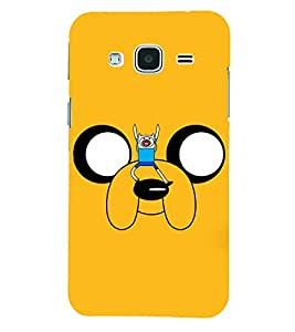 PRINTSHOPPII FUNNY DOG Back Case Cover for Samsung Glaxy J3 New Edition (2016)