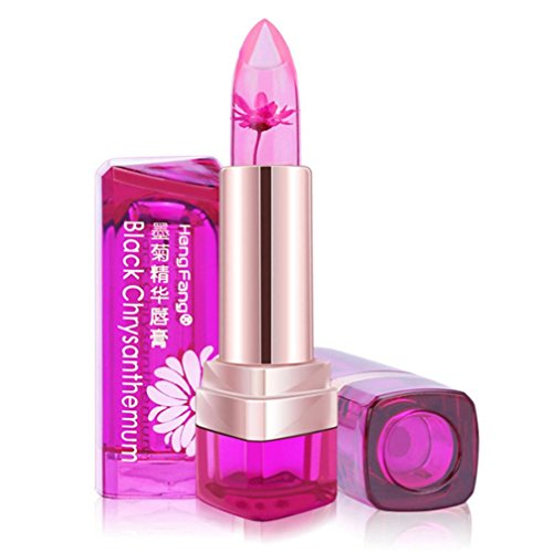 mingfa Jelly Lippenstift Blume wasserdicht Langlebig Lippenstift Lipgloss Temperatur Farbwechsel Feuchtigkeitsspendende Lippenbalsam Für Frauen Mädchen B (Purse Griffe Acryl)