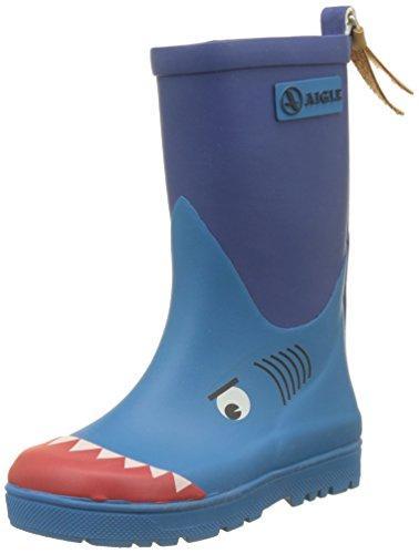 Aigle Unisex-Kinder Woody Pop Gummistiefel, Blau (Requin 001), 28 EU