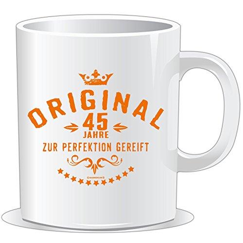 getshirts - RAHMENLOS® Geschenke - Tasse - Original 45 Jahre zur Perfektion gereift - Geburtstag - uni uni