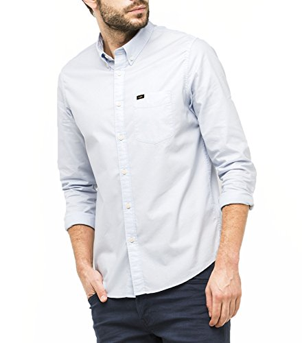 LEE Button Down, Chemise Casual Homme halogen blue