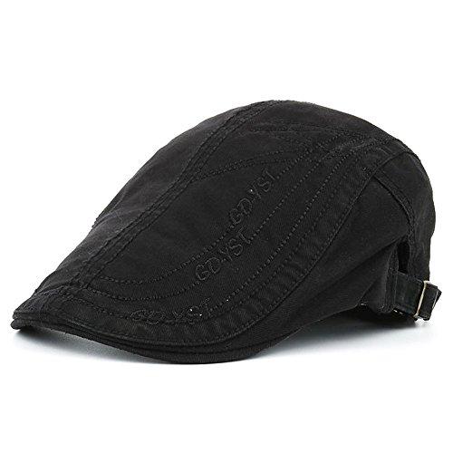 Gorras Gatsby Boinas Hombres Niños Retro Clásico Algodón Al Aire Libre Verano Sombrero Para El Sol, Negro