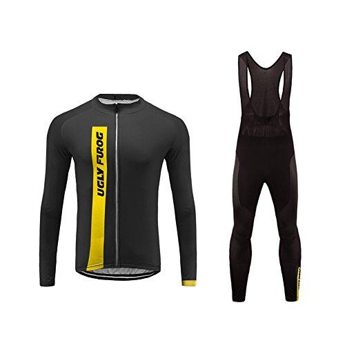 Uglyfrog moda set completo abbigliamento ciclismo da uomo maglia con lunghe maniche tuta + pantaloni lunghi di ciclismo ciclismo jerseys per uomo cxmx06f