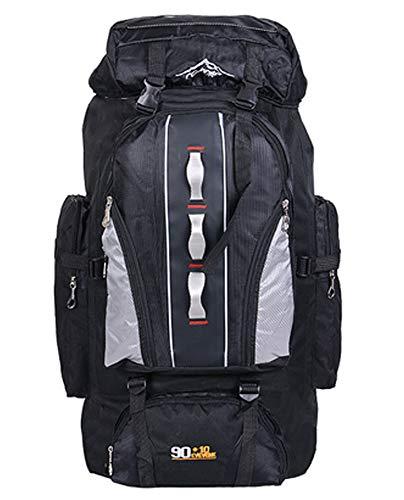100L Wasserdichter Trekkingrucksack - Unisex Tagesrucksack Wanderrucksack Sportrucksack Outdoor Rucksack, Schwarz, 100L - 100l Notebooks