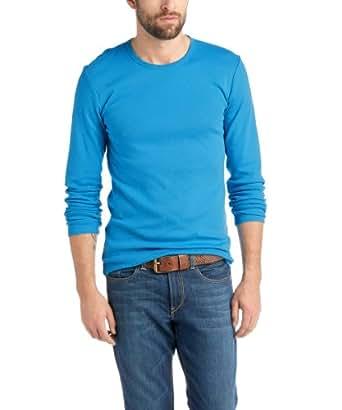 ESPRIT Herren Langarmshirt Slim Fit 014EE2K005, Gr. 52 (XL), Blau (434 STRONG BLUE)