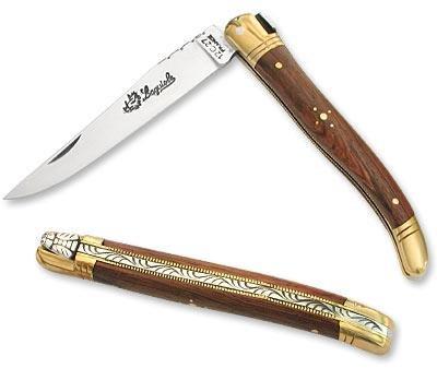 Laguiole Actiforge Laguiole-Messer, Griff aus Palisanderholz–Französisches Kunsthandwerk, 12 cm