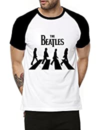 Fanideaz Cotton The Beatles Half Sleeve Raglan T Shirt For Men