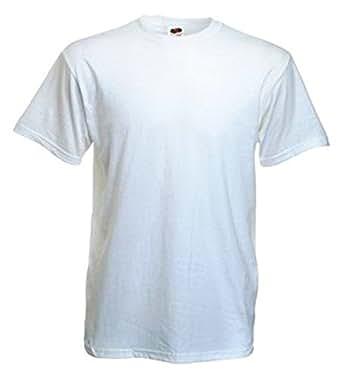 10 Stück Fruit of the Loom Heavy Cotton T-Shirts in Weiss, Grösse XL