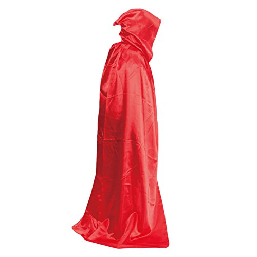 beiguoxia Let 's Party Vampir mit Kapuze Umhang, Mittelalter Hexe Bademantel Cape Bodenlang Halloween-Kostüm-Silber, Rot, Einheitsgröße (S Party-halloween-kostüme Let)