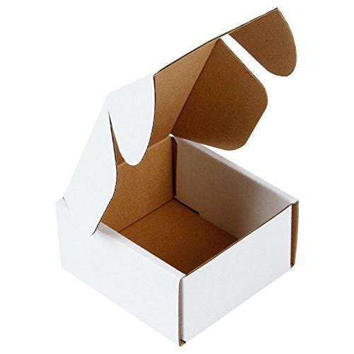 RUSPEPA 10 X 10 X 5 Cm Wellpappe Mailer Perfekt Für Den Versand Klein, Oyster White (Packung Mit 50) - White Oyster