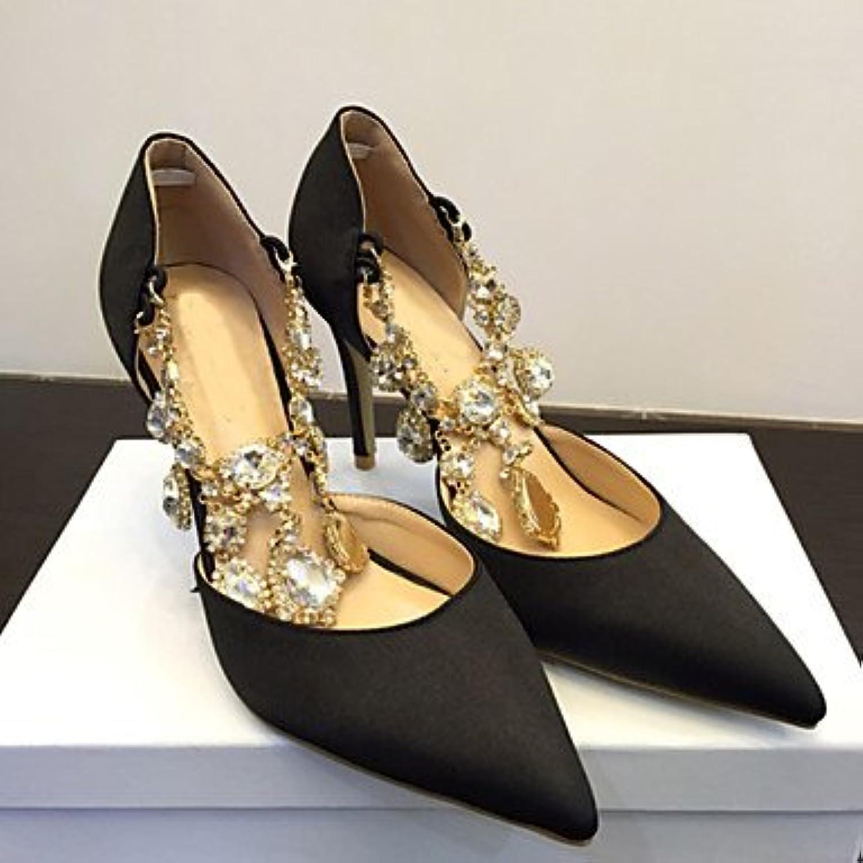 Zormey Women'S Spring Summer Fall Satin Calf Hair Wedding Office &Amp; Career Dress Party &Amp; Evening Stiletto...