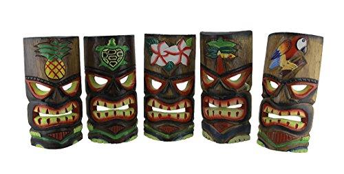 Set von 5Polynesische Bio Mittelmeer Tiki Masken 11in.