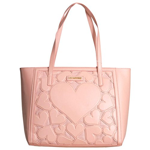 Love Moschino Intarsia shopping bag pink