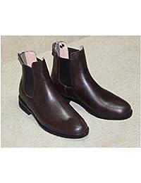 Sport zapatos de equitación para niños y jóvenes corto botas de equitación botas Equestrianism Piel de Vaca Café, café, 32