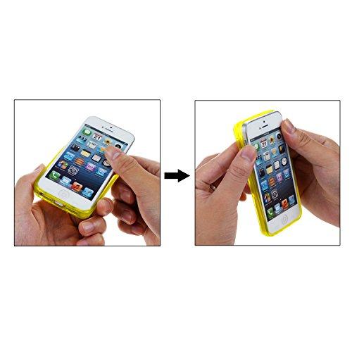 iPhone 5S Coque, wisdompro® 3Bundle Lot de housses de couleur et Graphic Étui de protection en gel TPU souple pour Apple iPhone 5/5S