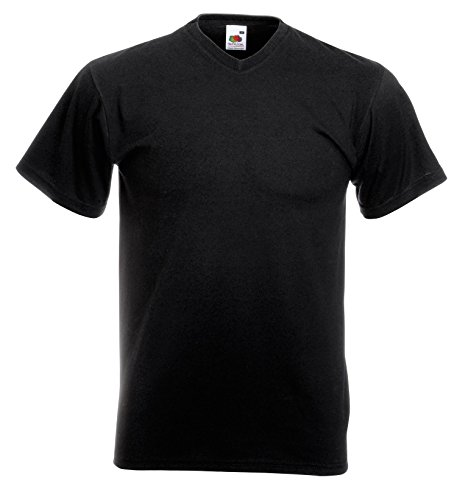 Fruit of the Loom Mens V-Neck Value T-Shirt