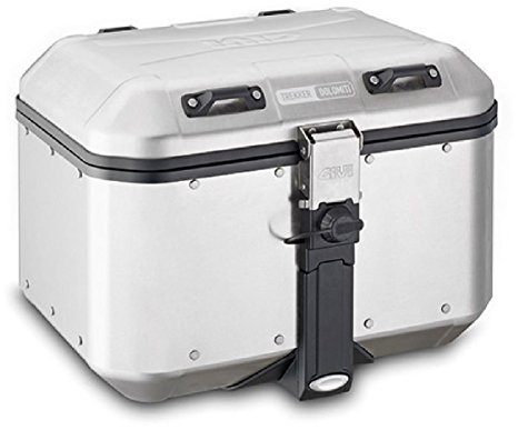 GIVI- Maleta para Moto Monokey DLM46A Trekker Dolomiti de Aluminio Natural, 46litros