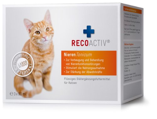 recoactiv nieren tonicum f r katzen kurpackung 3x90 ml. Black Bedroom Furniture Sets. Home Design Ideas