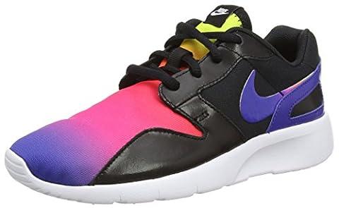 Nike Unisex-Kinder Kaishi Print (GS) Low-Top, Schwarz (005 Black/Deep Night-Fire Pink-Vlt), 38 EU