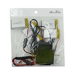 Hometalks®JJRC H8D H8C FPV Quadcopter Pièces détachées / remplacements ensemble complet avec 5pcs 7.4V 500mAh Lipo batterie / câble blance 1pcs 5-en-1 / 1pcs adaptateur chargeur