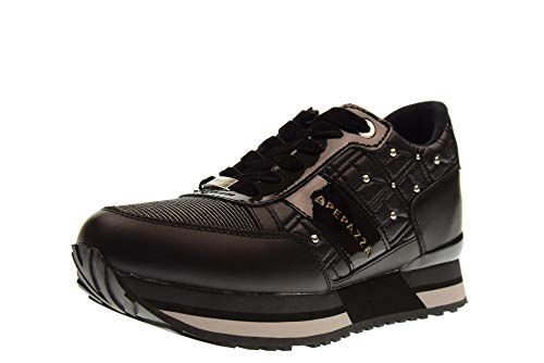 Apepazza RSD24 Matelasse ROMEY Laced - Zapatillas Bajas Mujer Negro Talla 36 1683b6b3970