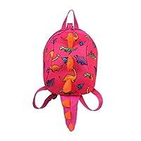 Toddler Kids Backpack, Keepwin Cute 3D Cartoon Dinosaur Animal School Bag Lunch Boxes Carry Bag for Pre School Toddler Kindergarten Children Gifts (Pink)