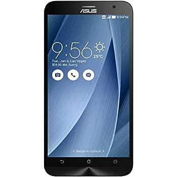 """Asus ZenFone 2 Smartphone, Schermo da 5.5"""" Full HD, Processore Quad Core 2,3 GHz, RAM 4 GB, 32 GB, 4G/LTE, Argento"""