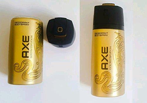 lata de ocultación (axe gold) caja fuerte secreta hucha de ahorros secret safe box stashs safes tresore tresor