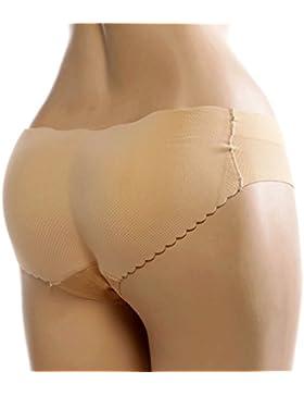 Andux Zone Ropa Interior Acolchada sin Costuras de la Mujer- Esponja Femenina Botín Padded Panty SS-NK01 (Piel...