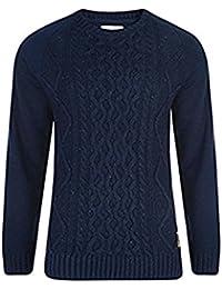 Fashion Cable Knit Pull en tricot pour homme Sweat shirt de Style Cockerham manches contrastées