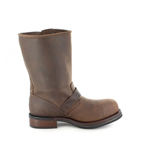 Buffalo Boots Stiefel 1808-B Brown/Damen und Herren Engineerstiefel Braun/Bikerstiefel/Biker Boots Brown
