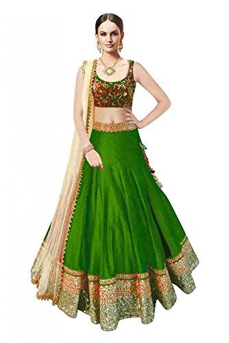 Riyan Enterprise Green Color Latest Designer Party Wear, Traditional Lehenga Choli with...
