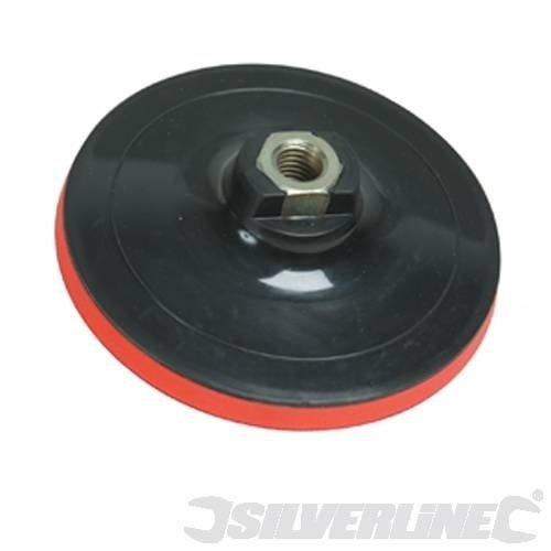 silverline-108628-platorello-abrasivo-con-chiusura-a-velcro