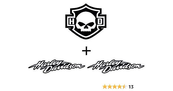 Retrolo Sticker Für Motorradhelm Harley Davidson 100 Stück 3 Sticker Auto